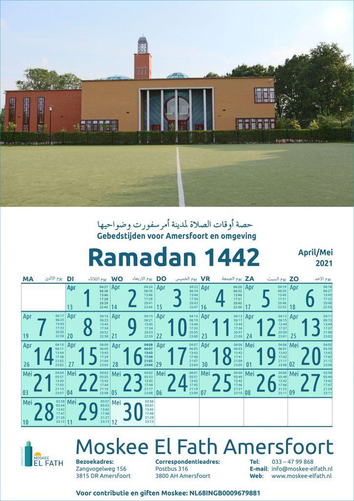 Gebedstijden Ramadan 2021