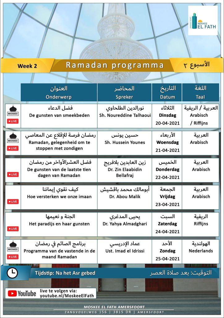 Ramadan Programma Week 2